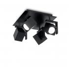 Светильник потолочный спот Ideal Lux Mouse 156712 хай-тек, черный матовый, металл