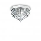 Светильник потолочный Ideal Lux Norma 094793 винтаж, прозрачный, стекло, хром