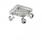 Светильник потолочный спот Ideal Lux Nostalgia 077963 хай-тек, прозрачный, хром, металл, стекло