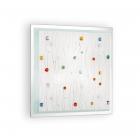 Светильник потолочный Ideal Lux Ocean 091013 современный, матовый, цветной, стекло с декором, металл