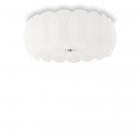 Люстра потолочная Ideal Lux Ovalino 094014 современный, белый, окисленное стекло, металл