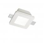 Светильник точечный встраиваемый Ideal Lux Samba 150116 белый, гипс, металл