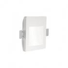 Настенный светильник встраиваемый Ideal Lux Walky-1 249810 белый, гипс