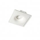 Светильник точечный встраиваемый Ideal Lux Zephyr 155722 современный, белый, гипс, стекло