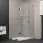 Прямоугольная душевая кабина Weston Crystal Water W015 хром/прозрачное стекло
