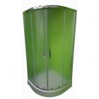Полукруглая душевая кабина Veronis KN-3-100 XL профиль сатин, стекло прозрачное