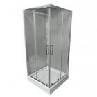 Квадратная душевая кабина Veronis KNS-100 профиль хром, стекло прозрачное