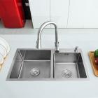 Кухонная мойка Lidz H7843 Brush 3.0/1.0 mm нерж. сталь браш