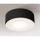 Светильник потолочный плафон Shilo Zama 1127 черный, металл, оргстекло