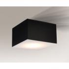 Светильник потолочный плафон Shilo Zama 1185 черный, металл, оргстекло