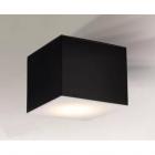 Светильник потолочный плафон Shilo Zama 1186 черный, металл, оргстекло