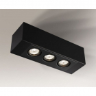 Точечный светильник накладной Shilo Seto H 1216 современный, черный, сталь, алюминий