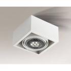 Точечный светильник накладной Shilo Uto 7091 современный, белый, сталь, алюминий