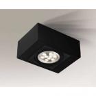 Точечный светильник накладной Shilo Uto 7098 современный, черный, сталь, алюминий