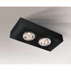 Точечный светильник накладной Shilo Uto 7104 современный, черный, сталь, алюминий