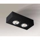 Точечный светильник накладной Shilo Uto H 1219 современный, черный, сталь, алюминий
