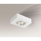Точечный светильник накладной Shilo Koga H 7120 современный, белый, сталь, алюминий