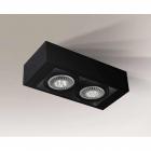 Точечный светильник накладной Shilo Koga 7122 современный, черный, сталь, алюминий