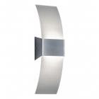 Настенный светильник-подсветка Trio Olivia 210710107 матовый никель/белое стекло