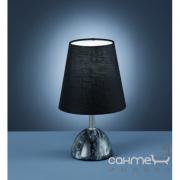 Настольная лампа Trio Cherry 503600102 серый мрамор/черная ткань