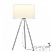 Настольная лампа Trio Tripolis 506600101 хром/белая ткань