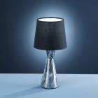 Настольная лампа Trio Savannah 503200102 серый мрамор/черная ткань
