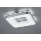 Потолочный LED-светильник с дистанционным управлением Trio Hokkaido 658010107 матовый никель/белый акрил
