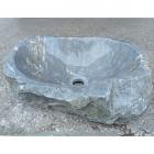 Раковина на столешницу Stone Art 45x39x15 серый мрамор