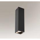 Точечный светильник даунлайт накладной Shilo Mitsuma 7888 современный, черный, сталь, алюминий