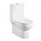 Унитаз-компакт безободковый с сиденьем Asignatura Simple Bend 37822505 белый
