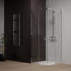 Квадратная душевая кабина Weston W038 1050x1050 хром, прозрачное стекло