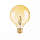 Лампа Эдисона светодиодная Osram LED Globe 1906 6,5W/824 230V FIL Gold DIM E27 650 lm, 2400K