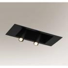 Светильник потолочный врезной спот Shilo Yamaga 7800 хай-тек, черный, сталь, алюминий