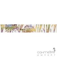 Плитка Paradyz Kwadro Ceramika Violino Bianco Listwa Kwiat 4,8 x 33,3 (кафель с цветами)