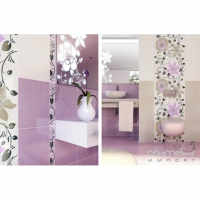 Плитка Paradyz Kwadro Ceramika Tirani Viola Listwa Szklana 3 x 25