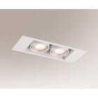 Точечный светильник встраиваемый Shilo Ebino 7316 современный, белый, сталь, алюминий