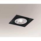 Точечный светильник встраиваемый Shilo Komoro 3308 современный, черный, сталь, алюминий