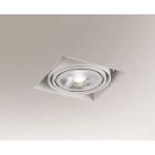 Точечный светильник встраиваемый Shilo Komoro 7324 современный, белый, сталь, алюминий