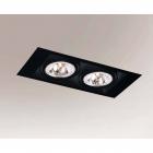 Точечный светильник встраиваемый Shilo Muko 7353 современный, черный, сталь, алюминий