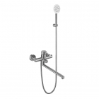 Смеситель для ванны с длинным изливом и душевым гарнитуром Venta VA7008A нержавеющая сталь