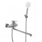 Смеситель для ванны с длинным изливом и душевым гарнитуром Venta VA7047A нержавеющая сталь