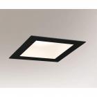 Точечный светильник встраиваемый Shilo Tottori IL 3367 современный, черный, сталь, алюминий