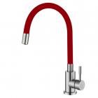 Смеситель для кухни с гибким изливом Venta VA3011E-Red красный/нержавеющая сталь