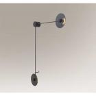 Светильник настенный Shilo Furano 7818 хай-тек, черный, сталь, алюминий