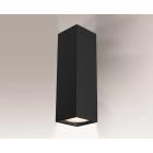 Светильник настенный бра Shilo Ozu 4402 хай-тек, черный, сталь, алюминий