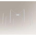 Люстра припотолочная Shilo Hirabe 7935 современный, белый, металл