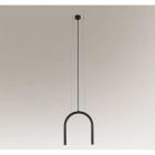 Люстра подвесная Shilo Sukomo 7858 современный, черный, металл