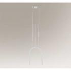 Люстра подвесная Shilo Sukomo 7861 современный, белый, металл