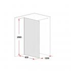 Душевая перегородка Glass Partition хром/прозрачное  850х2000