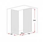 Душевая перегородка Glass Partition хром/прозрачное  1350х2000